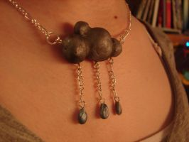 Rain cloud necklace by MockingJay98