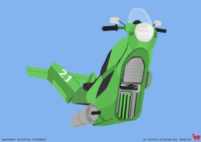 Jet Moto Vector by lemontea