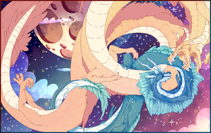 WIP: Space dragons by Scratchbite
