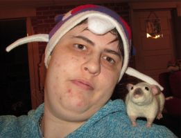 Me and my new rat by MaguschildCloud