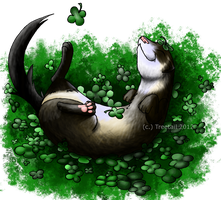 .:A Very Lucky Ferret:. by Treetail
