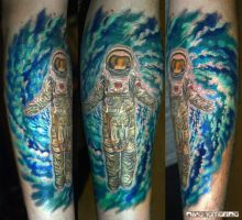 astronaut tattoo by NikaSamarina