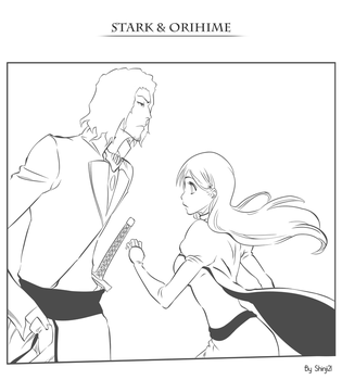Bleach : Line Stark et Orihime by shinji21