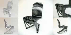 Chair Stripe design by Joachim King by HorheSoloma