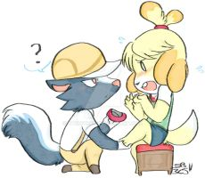 .:Kicks and Isabelle:. by stingybee