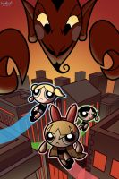 Powerpuff Save the Day by AdamMasterman