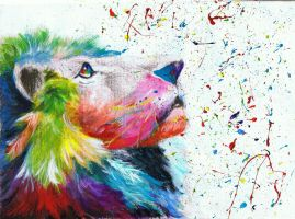 colourful lion by passionforwhatilove
