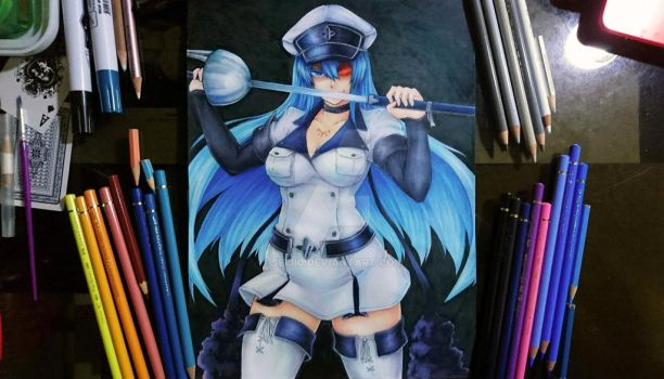 Esdeath from Akame ga Kill by seiji0