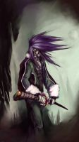 creepy long haired guy by stan522