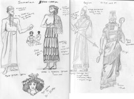 Costume History - Ancient Civ. by obiwankatie