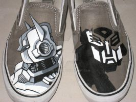 Painted Transformers Shoes by smlfry90