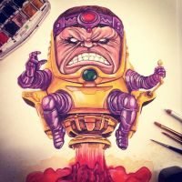 MODOK Watercolor by APetrie74