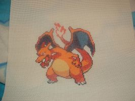 Charizard Cross Stitch by mtexas4