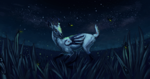 Aura and the Fireflies by Trinket-Stag