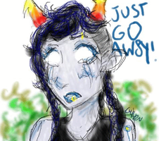 JUST GO AW8Y! (animated) by DragonFang17