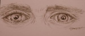 Hiddleston's eyes by Xanthiya