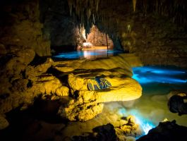 Okinawa World - Cave Water pools by Natures-Studio