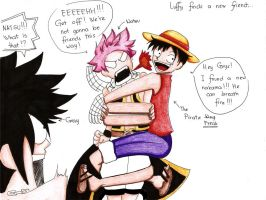 Luffy's New Friend by Lanne09