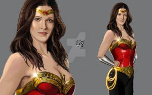 Bridget Regan as Wonder Woman by daniel-morpheus