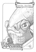 FREE Star Wars Admiral Ackbar sketch by Carl-Riley-Art
