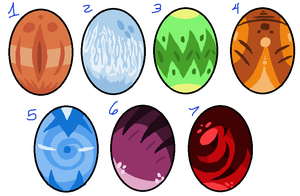 Egg Adoptables by Goldnight13