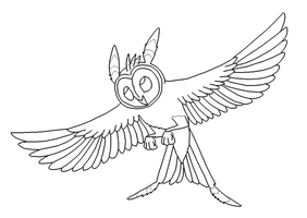 Fairy Owl Lineart by Xbox-DS-Gameboy