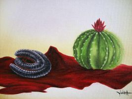 Centipede and Cactus by Sikl