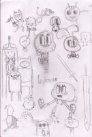 Adventure Gumball Sketches by snapperboy