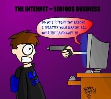 Internet is serious business by Bogswallop