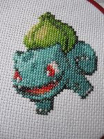 Bulbasaur Cross-stitch by Emmajb