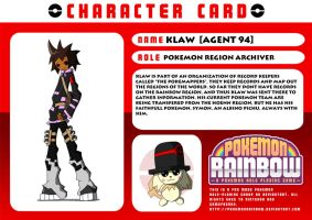 Pokemon Rainbow Character Card by TheonknownKLAW
