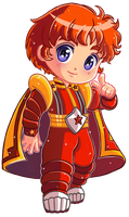 Commission :: Rainbow Brite 1/8 - Red Buttler by Hadibou
