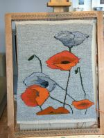 poppy yarn painting by basia-hs