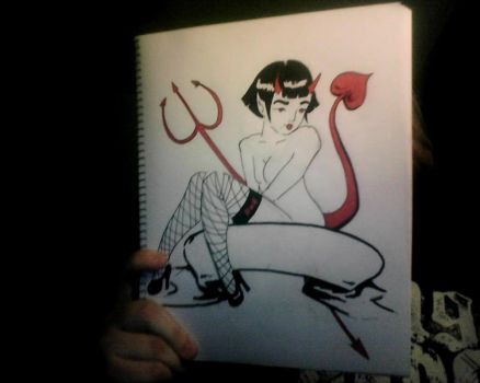 The devils Daughter Pinup by SleepSearcher04