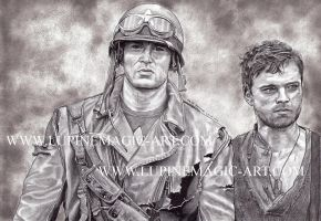 Steve and Bucky by lupinemagic