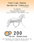 Downloadable Trotting Horse Template - ANIMATED by Wild-Hearts