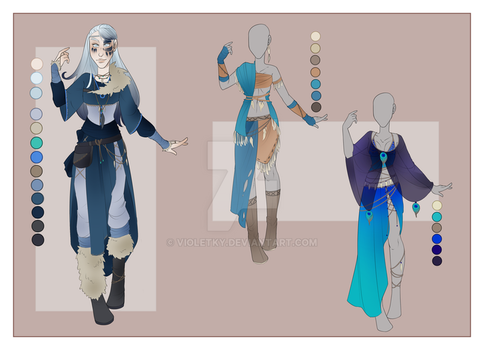 :: June Commission 04: Outfit Wardrobe :: by VioletKy