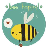 Bee Happy Postcard by lemon5ky