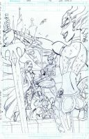 Nova Fatal attractions final  final page lineart by Darkstampede