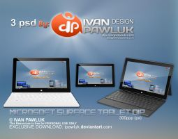 Microsoft Surface Tablet DIP   PSD by ipawluk