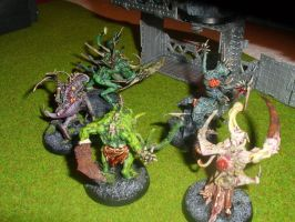 nurgle chaos spawns 3 by skincoffin
