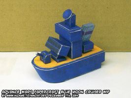Papercraft Advance Wars BM Cruiser final build by ninjatoespapercraft