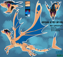Akikana Dragon Concept Sheet by MystikMeep