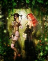 Two Sister by Fae-Melie-Melusine
