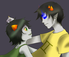 Sollux and Nepeta by Rionetta