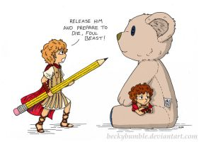 Pocket Alexander and the Bear by BeckyBumble