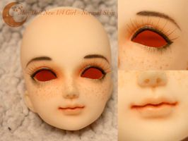 BJD Face Up - MiroDoll New 1/4 Girl Head by Izabeth