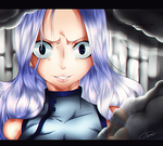 Mirajane furious by XxAjisai-GraphicxX