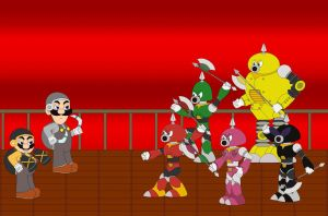 Super Axem Rangers Battle by Kphoria