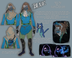 Blue Reference Sheet by Caslen